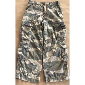 Abercrombie Vintage Camouflage Camo Cargo Pants